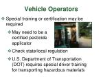 vehicle operators