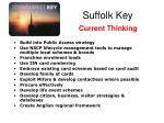 suffolk key current thinking