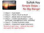 suffolk key simple steps no big bangs