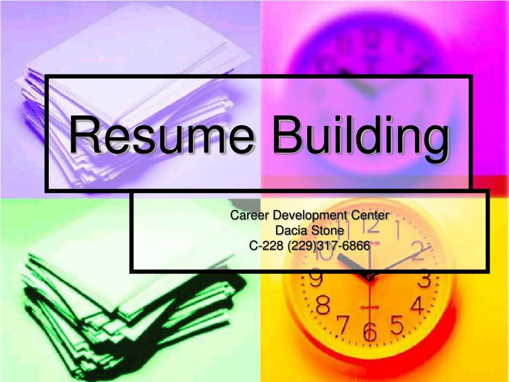 resume building l.