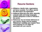 resume sections12