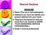 resume sections8
