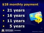 28 monthly payment