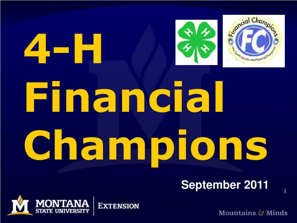 4 h financial champions l.