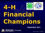 4 h financial champions
