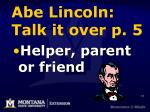abe lincoln talk it over p 5