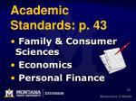 academic standards p 43