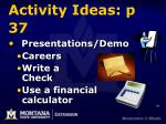 activity ideas p 37