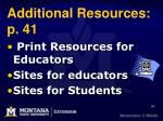 additional resources p 41