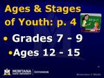 ages stages of youth p 4