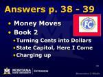 answers p 38 39