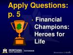 apply questions p 5