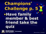 champions challenge p 527