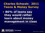 charles schwab 2011 teens money survey