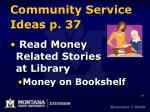community service ideas p 37