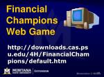 financial champions web game