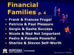 financial families p 4