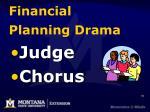 financial planning drama