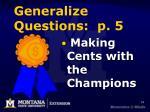 generalize questions p 5