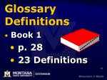 glossary definitions