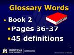 glossary words
