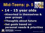mid teens p 5