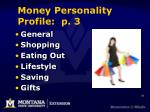 money personality profile p 3