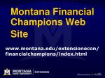 montana financial champions web site