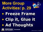 more group activities p 29