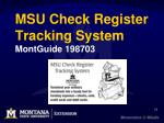 msu check register tracking system montguide 198703