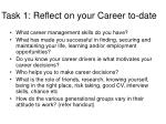 task 1 reflect on your career to date