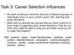 task 3 career selection influences