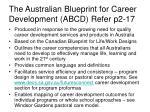 the australian blueprint for career development abcd refer p2 17