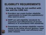 eligibility requirements25