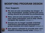 modifying program design