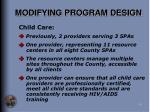 modifying program design18