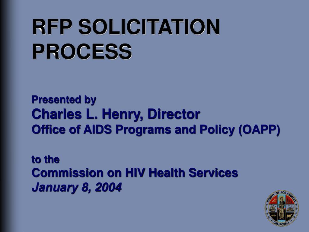 rfp solicitation process l.