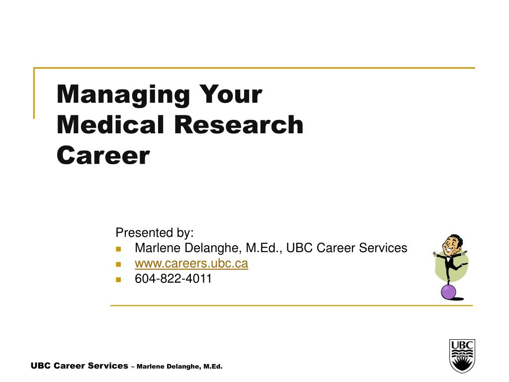 managing your medical research career l.