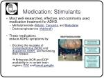 medication stimulants