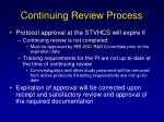 continuing review process33