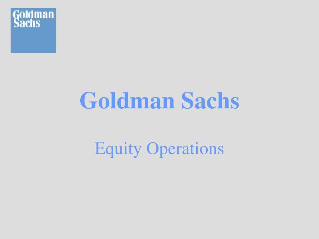 goldman sachs l.