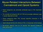 abuse related interactions between cannabinoid and opioid systems