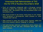 intracranial self administration of thc into the vta or nucleus accumbens shell