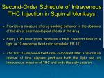 second order schedule of intravenous thc injection in squirrel monkeys