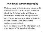 thin layer chromatography14
