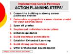 implementing career pathways action planning steps