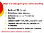 steps in building programs of study pos