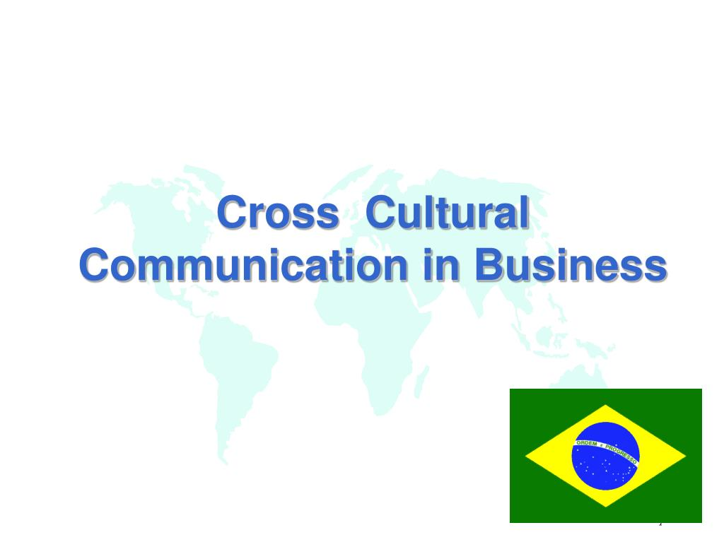cross cultural communication in business l.