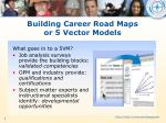 building career road maps or 5 vector models