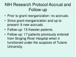 nih research protocol accrual and follow up